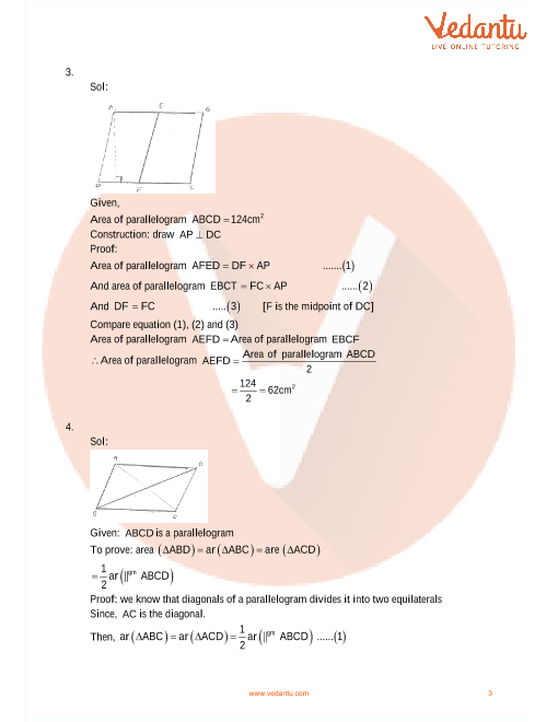 Area of parallelogram worksheet 6th grade