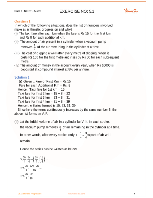 Chapter 5-Arithmetic Progression part-1