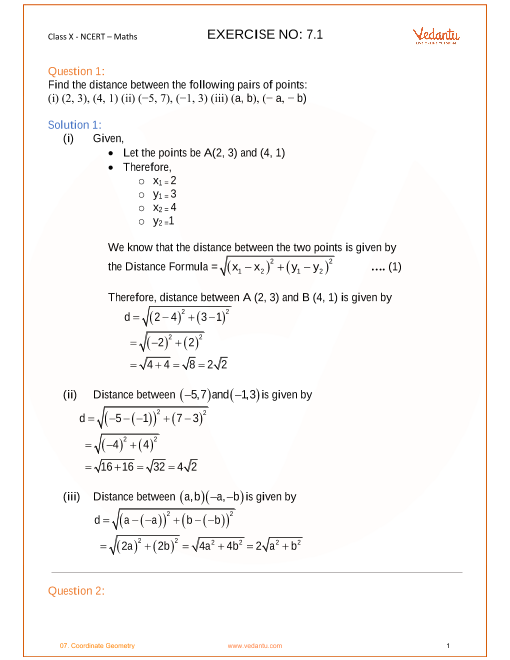 Chapter 7-Coordinate Geometry part-1