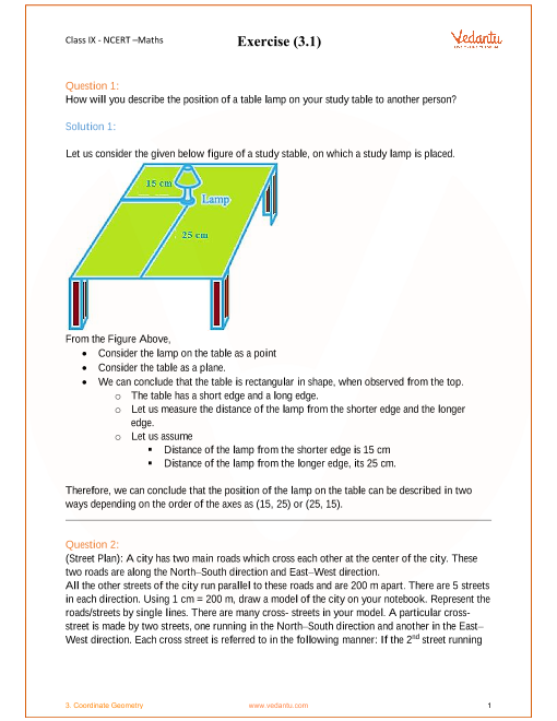 Chapter 3-Coordinate Geometry part-1