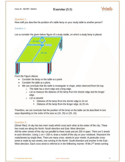 NCERT Solution-Coordinate Geometry (1) part-1