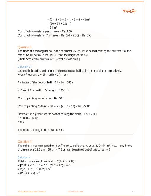 ncert solution for class 9 maths chapter 13