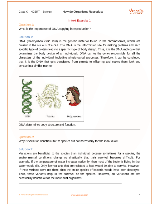 NCERT Solution-How do Organisms Reproduce part-1