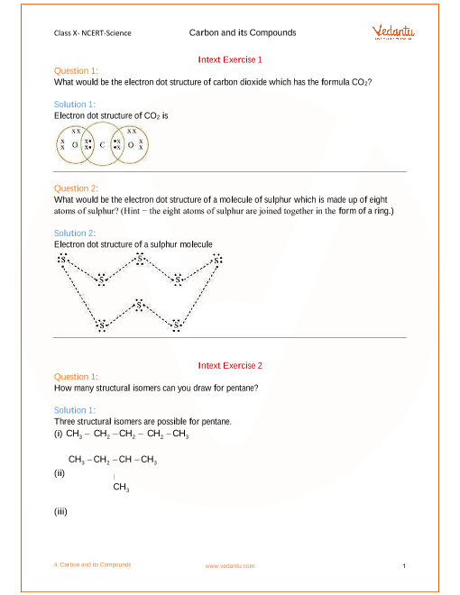 Chapter 4 - Carbon and Its Compounds part-1