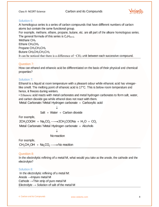 Ncert Solutions For Class 10 Science Chapter 4 Carbon And Its
