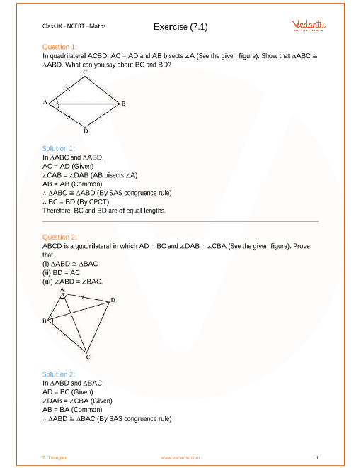 NCERT Solution-Triangles (1) part-1