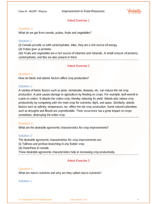 ncert solutions for class 9 science chapter 15 improvement in food rh vedantu com physics principles and problems ch 15 study guide answers physics principles and problems chapter 15 study guide answers