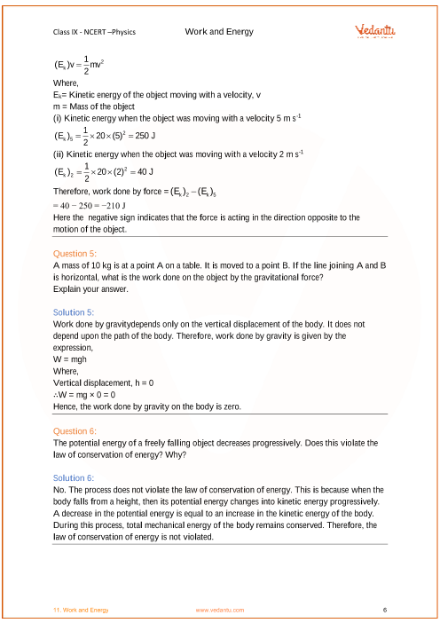 law of conservation of energy questions