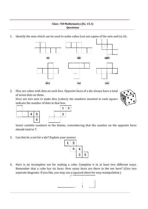 ncert solutions for class 8 maths chapter 11 try these