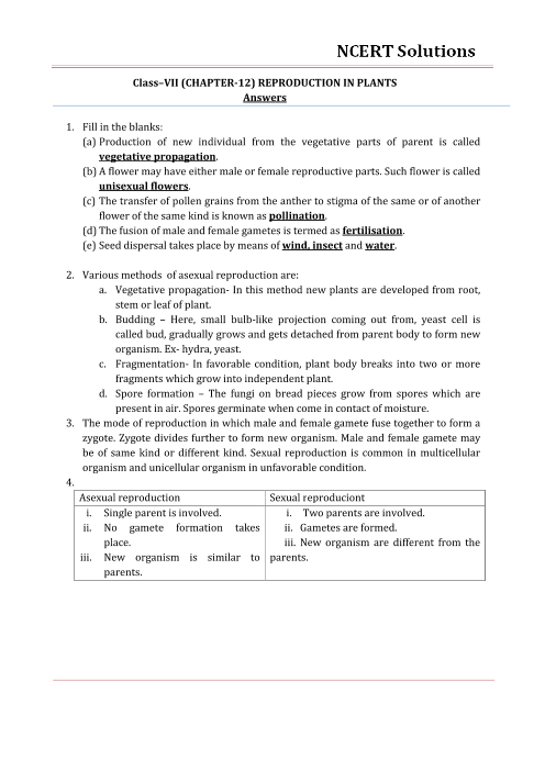 ncert solutions for class 7 science chapter 12
