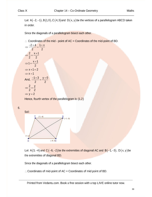Rd sharma class 10 solutions chapter 14 coordinate geometry fandeluxe Choice Image