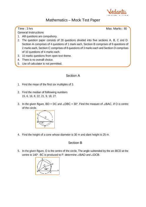 CBSE-9th-Maths - Mock Test Paper-1 part-1