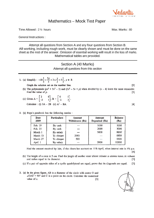 Selina Concise Mathematics Class 9 ICSE Solutions