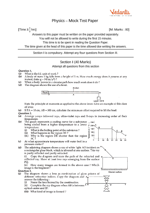 ICSE-10th-Physics - Mock Test Paper-3 part-1