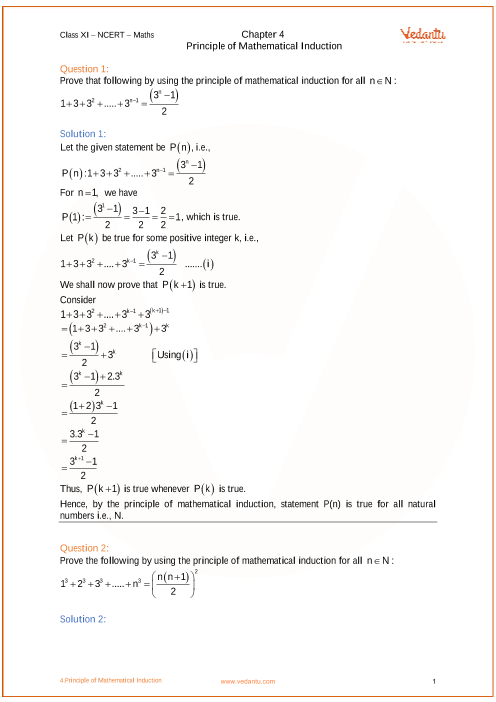 Chapter 4 - Principle of Mathematical Induction part-1
