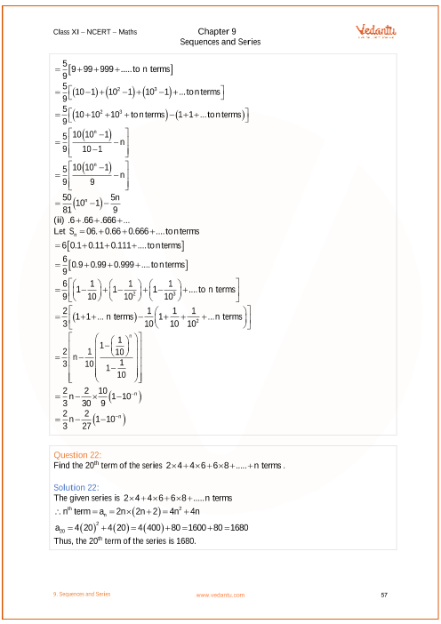 grade 11 math sequences and series review