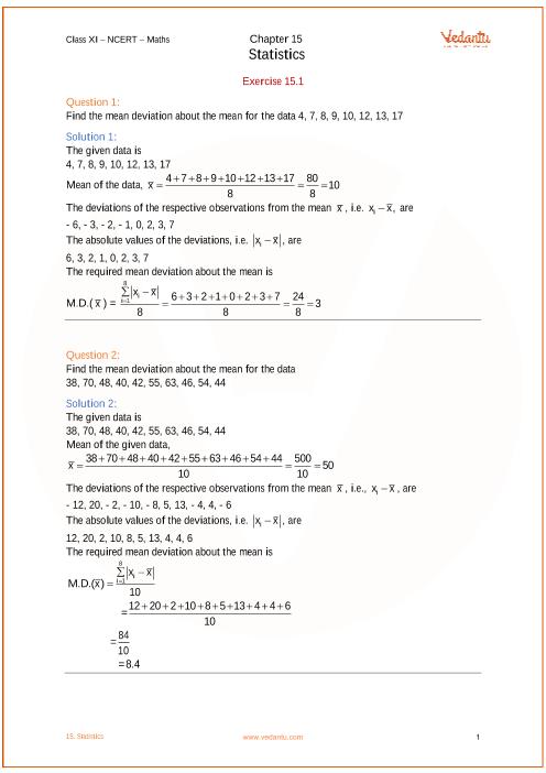 Chapter 15 - Statistics part-1