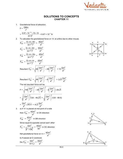 Chapter 11 Gravitation part-1