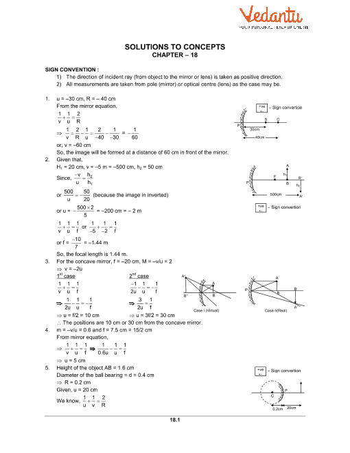 Chapter 18 Geometrical Optics part-1