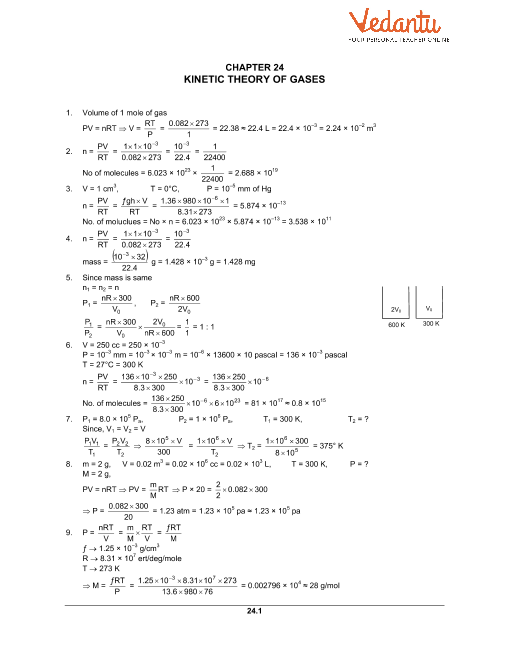 Chapter 24 Kinetic Theory of Gases part-1