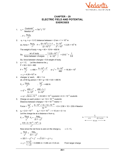 Chapter 29 Electric Field and Potential part-1