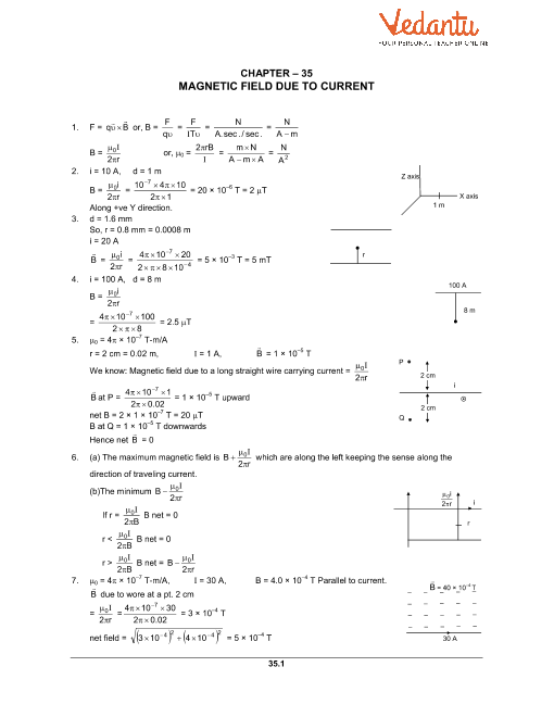 Chapter 35 Magnetic Field due to a Current part-1