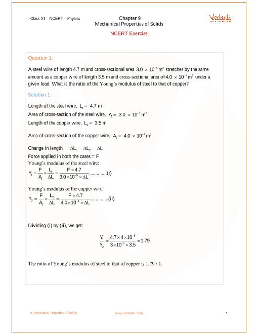 Chapter-9 - Mechanical Properties of Solids part-1