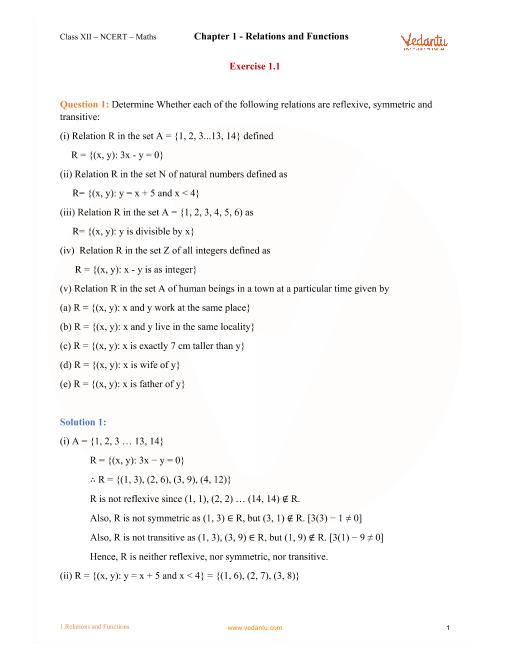 12th Maths Book Volume 1 Pdf