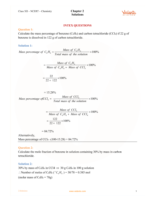 Chapter -2- Solutions part-1