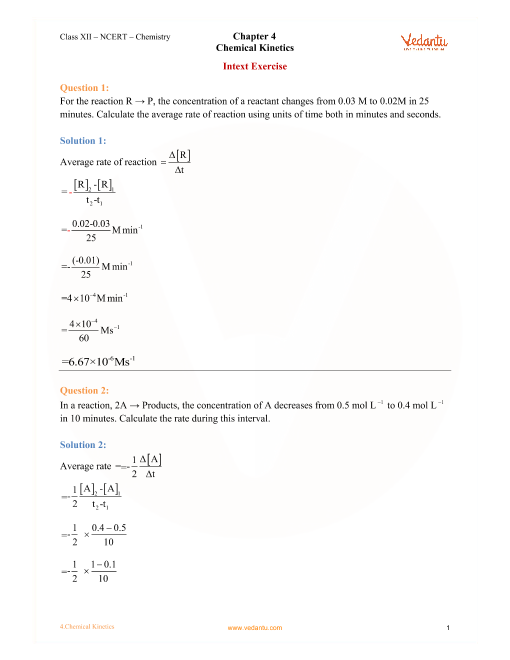 Class 12th Chemistry Ncert Solutions Pdf