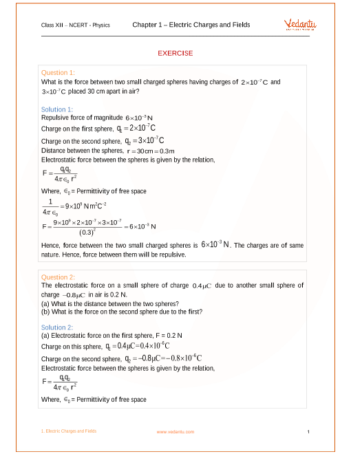 nsert soln class 12 physics chapter Ncert solutions class 12 physics – chapter 2 – electrostatic potential and  capacitance: ncert solution class 12 physics – chapter 2.