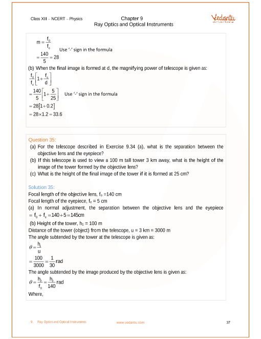 Ncert solutions for class 12 physics chapter 9 ray optics and ncert solutions for class 12 physics chapter 9 ray optics and optical instruments publicscrutiny Images