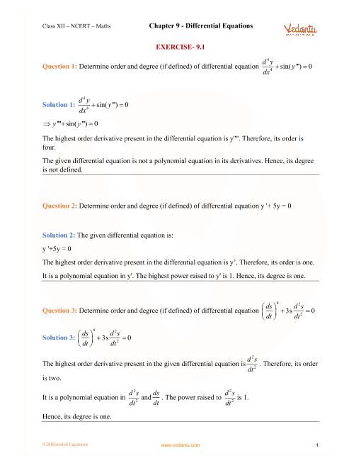 Chapter 9 - Differential Equations part-1