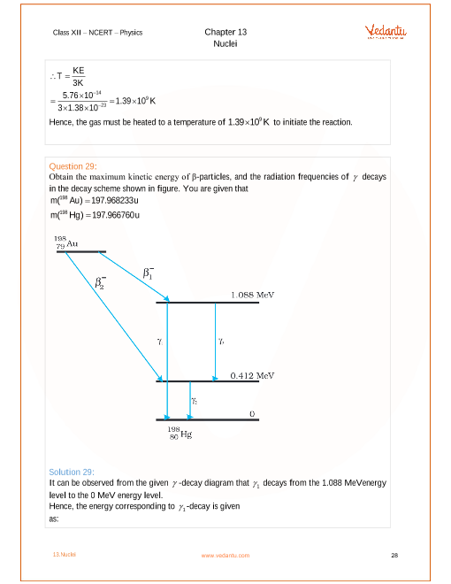 Ncert Solutions For Class 12 Physics Chapter 13 Nuclei