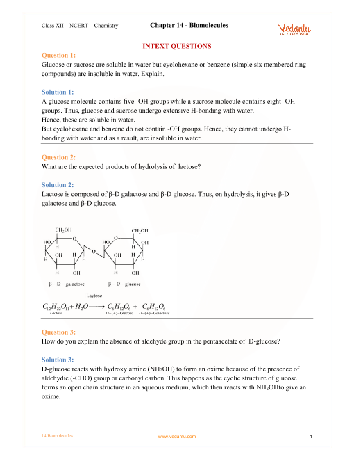 Chapter-14- Biomolecules part-1
