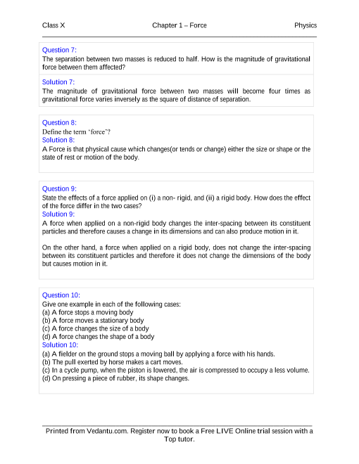 Force solutions for icse board class 10 physics concise selina force solutions for icse board class 10 physics concise selina publishers fandeluxe Gallery