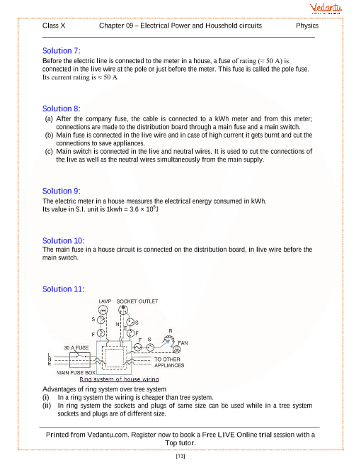 Household Circuits Solutions for ICSE Board Cl 10 Physics ... on household maintenance, household oil, household battery, household appliances, household equipment, household resistors, household electronics, household safety, household circuits, household fans, household breakers, household insulation, household repair,