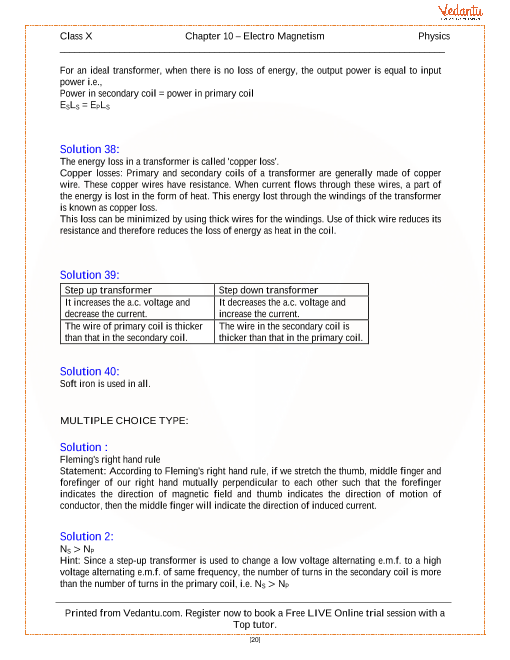 Electro Magnetism Solutions For Icse Board Class 10 Physics Concise