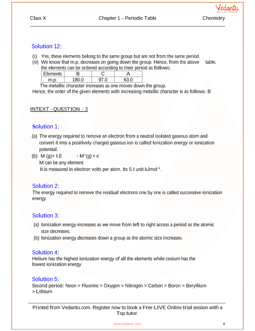 Periodic table periodic properties and variations of properties periodic table periodic properties and variations of properties solutions for icse board class 10 chemistry urtaz Gallery
