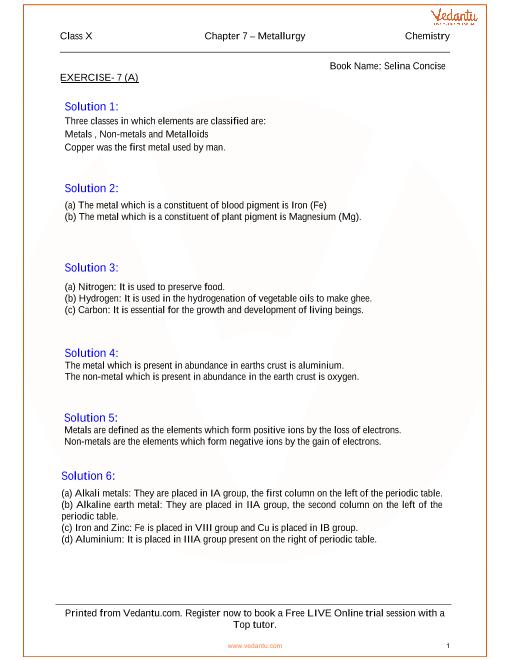 Chapter -07 Metallurgy part-1