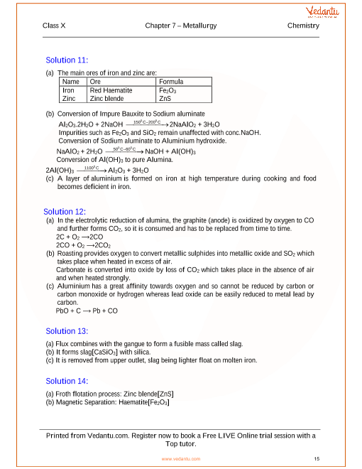 Metallurgy solutions for icse board class 10 science concise metallurgy solutions for icse board class 10 science concise selina publishers urtaz Images