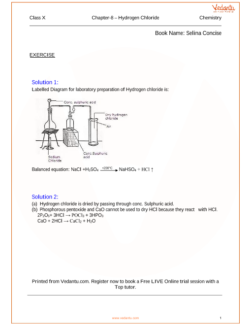 Chapter -08 Hydrogen Chloride part-1