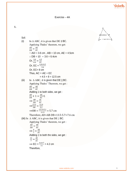 RS Agarwal Class 10 Solutions Chapter 04 Triangles part-1
