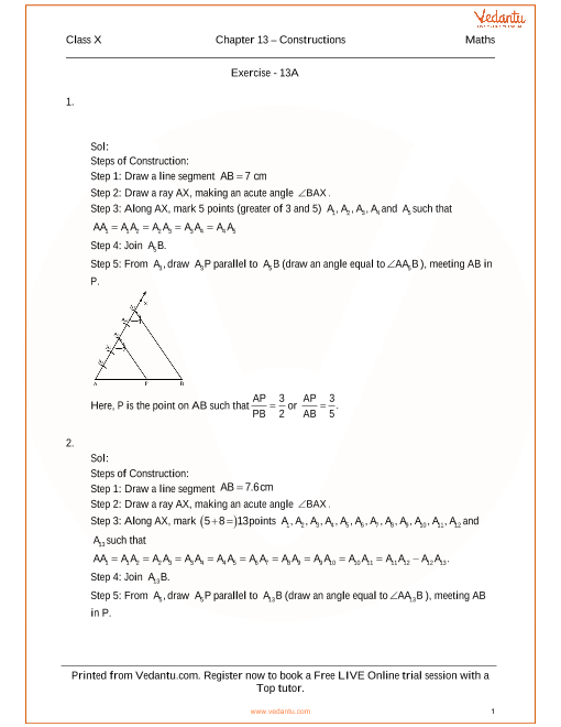 RS Agarwal Class 10 Solutions Chapter 13 Constructions part-1