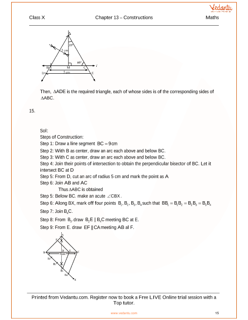 Rs aggarwal class 10 solutions chapter 13 constructions ccuart Image collections