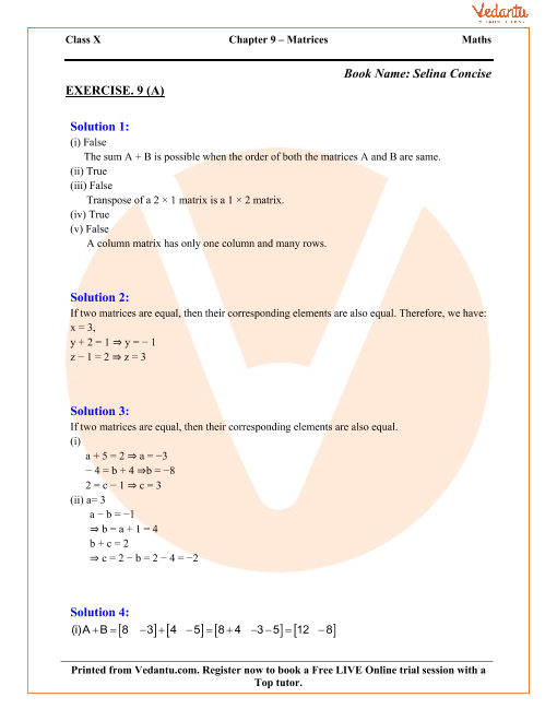 Chapter 9 - Matrices part-1