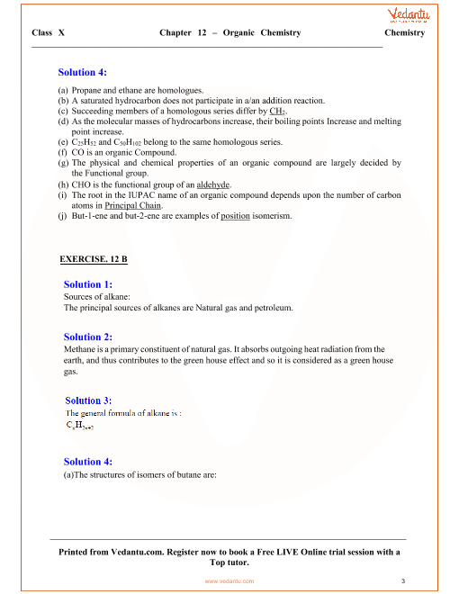 Organic Chemistry Solutions For Icse Board Class 10 Science Concise