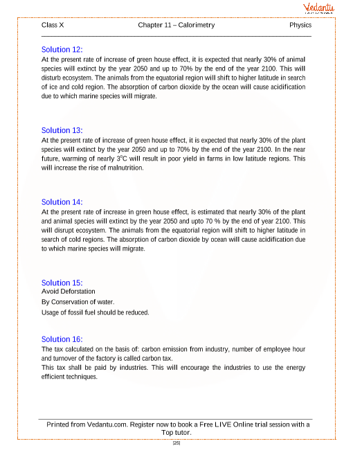 Calorimetry Solutions For Icse Board Class 10 Physics Concise