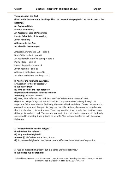 CBSE9 English Beehive - 9 part-1