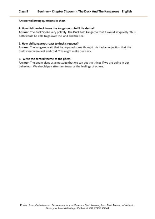CBSE9 English Beehive - 7 part-1